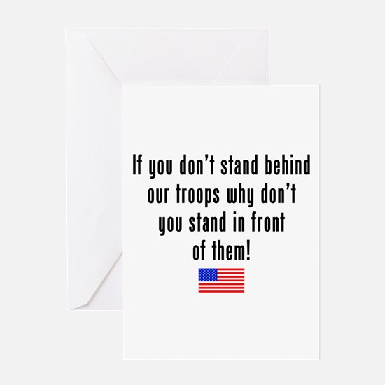 Patriotic: Stand Behind Our Troops Greeting Card