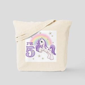 Pretty Pony 5th Birthday Tote Bag