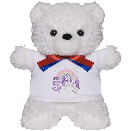 Pretty Pony 5th Birthday Teddy Bear