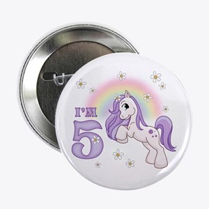 "Pretty Pony 5th Birthday 2.25"" Button"