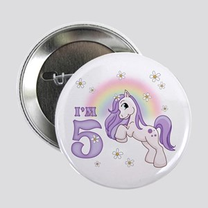 "Pretty Pony 5th Birthday 2.25"" Button"