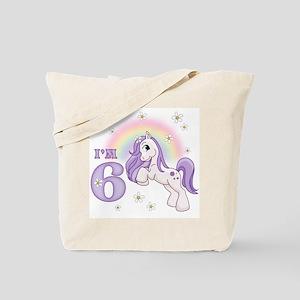 Pretty Pony 6th Birthday Tote Bag
