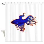 Ruby Blue Shower Curtain