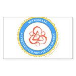 retroshare seal Rectangle Sticker