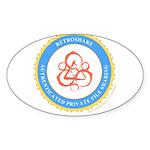 retroshare seal Oval Sticker