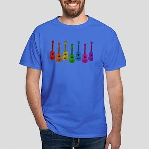 Ukulele Rainbow Dark T-Shirt