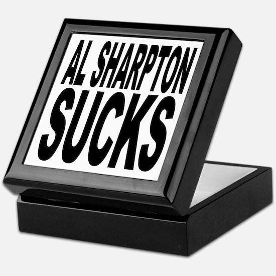Al Sharpton Sucks Keepsake Box