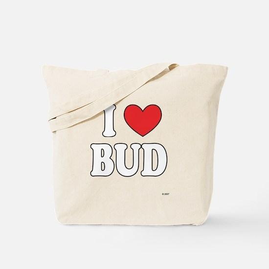 I Love BUD Tote Bag