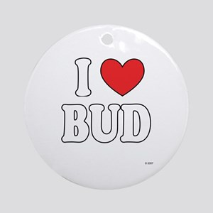 I Love BUD Ornament (Round)