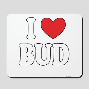 I Love BUD Mousepad