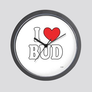 I Love BUD Wall Clock