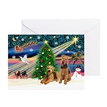 XmsMagic-Airedale(s) Greeting Cards (Pk of 10)