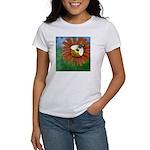 Bee Flower Women's Classic White T-Shirt