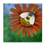 Bee Flower Tile Coaster
