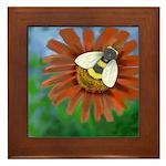Bee Flower Framed Tile
