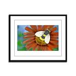 Bee Flower Framed Panel Print