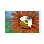 Bee Flower Mini Poster Print
