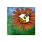 Bee Flower Square Sticker 3