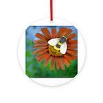 Bee Flower Round Ornament