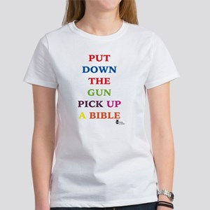 Put Down the Gun Pick Up a Bi Women's T-Shirt