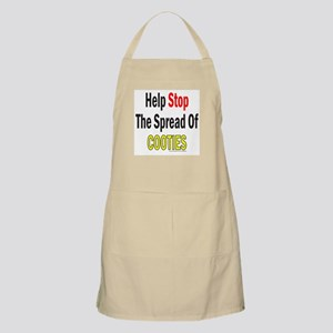 HELP STOP THE SPREAD OF COOTIES BBQ Apron
