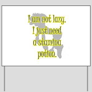 Lazy Stamina Potion Yard Sign