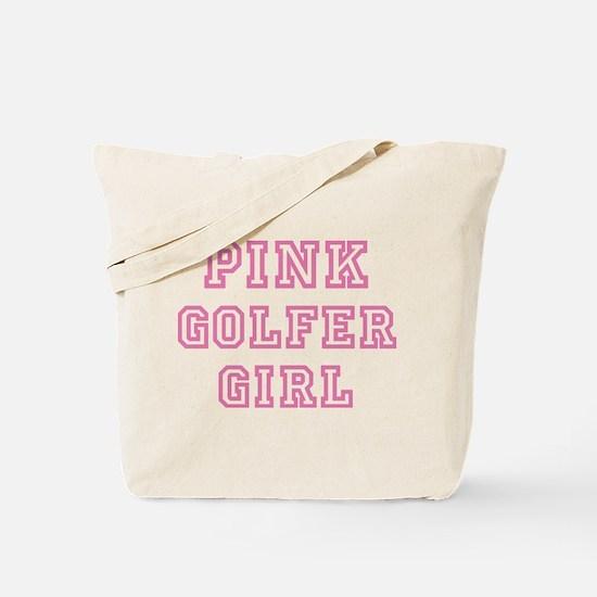 Pink Golfer Girl - Tote Bag