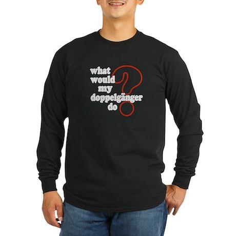Doppelganger Long Sleeve Dark T-Shirt