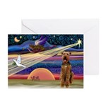 XmsStar - Airedale Greeting Cards (Pk of 10)