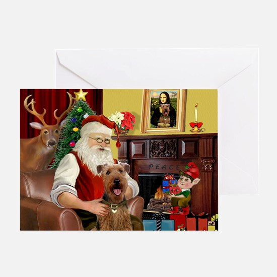 Santas Airedale(s) Greeting Card