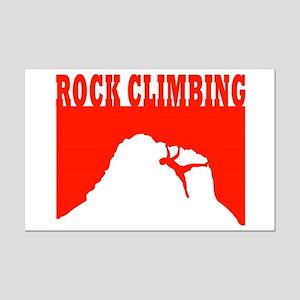 Rock Climbing Mini Poster Print