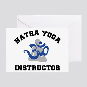Hatha Yoga Instructor Greeting Card