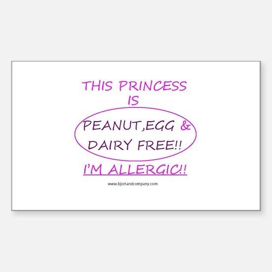 Peanut, Egg & Dairy Free Prin Decal