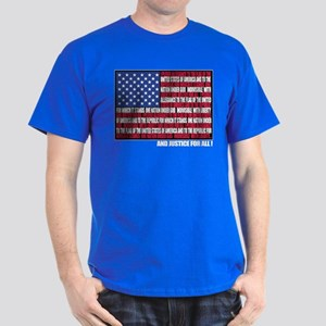 PLEDGE OF ALLEGIANCE FLAG Dark T-Shirt