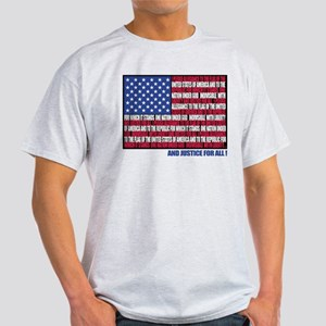 PLEDGE OF ALLEGIANCE FLAG Light T-Shirt