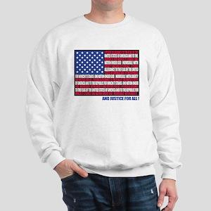 PLEDGE OF ALLEGIANCE FLAG Sweatshirt