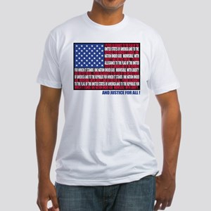 PLEDGE OF ALLEGIANCE FLAG Fitted T-Shirt