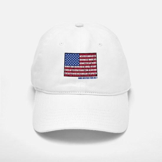 PLEDGE OF ALLEGIANCE FLAG Baseball Baseball Cap
