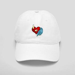 I Love My Blue Indian Ringneck Parakeet Hat Hen