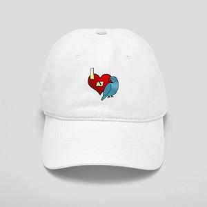 I Love My Blue Indian Ringneck Parakeet Hat