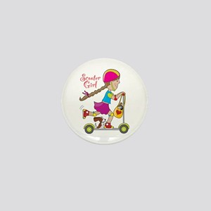 Scooter Girl Mini Button