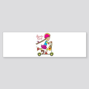 Scooter Girl Bumper Sticker