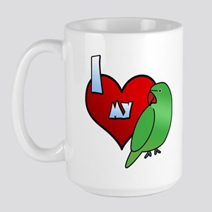 Love Hen Indian Ringneck Large Mug
