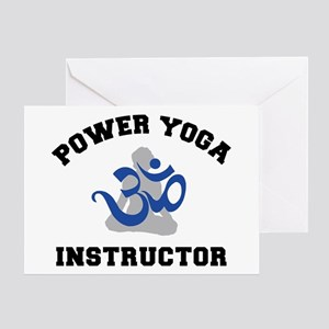 Power Yoga Instructor Greeting Card