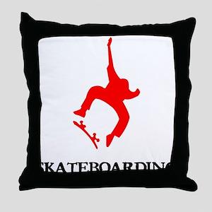 skateboarding Throw Pillow