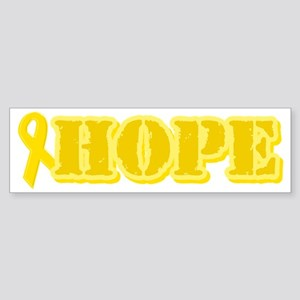 Hope Yellow ribbon Bumper Sticker
