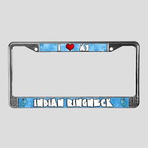Love Blue Indian Ringneck License Plate Frame Male