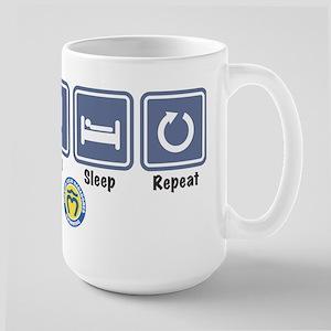 Swim Eat Sleep Repeat Large Mug