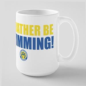 Rather Be Swimming Large Mug