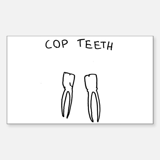 """Cop Teeth"" Rectangle Decal"